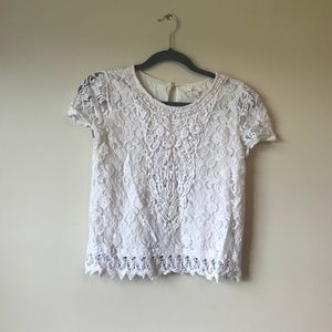 5/$30 Forever 21 Lacey Crop Top - Size Small